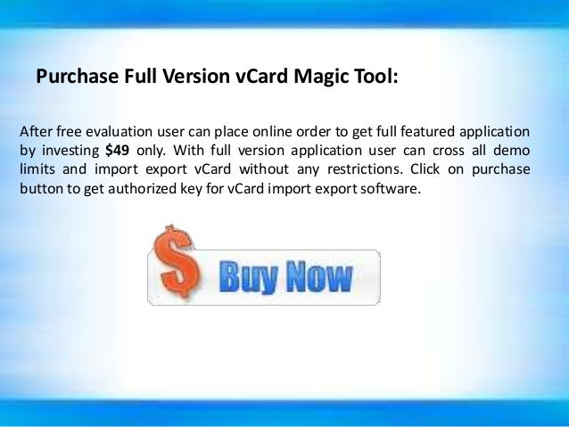 vCard Import Export Software to Manage Outlook Contacts List