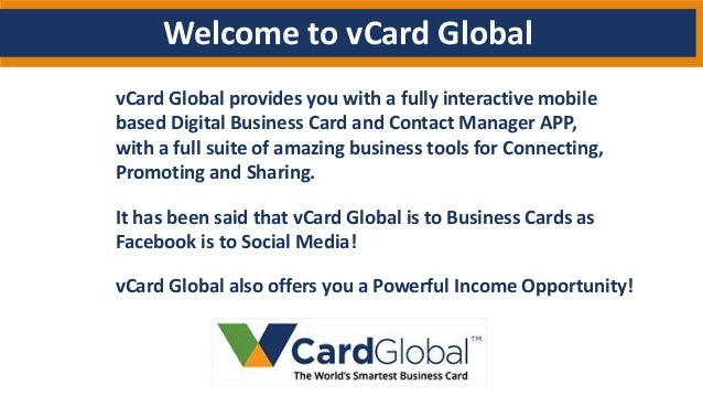 vCard Global Affiliate Presentation