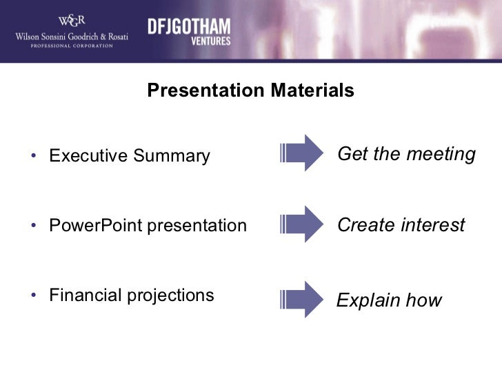 presentation materials executive summary po u2026
