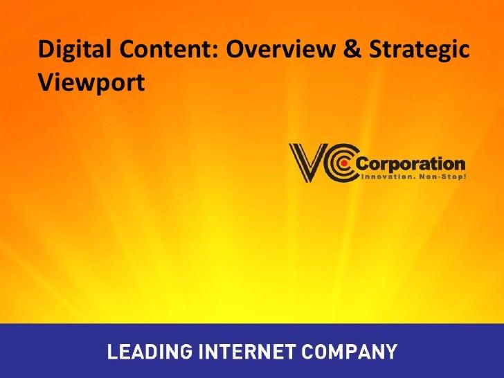 Digital Content: Overview & StrategicViewport