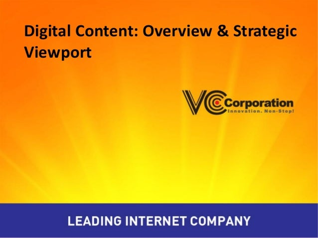 Digital Content: Overview & Strategic Viewport