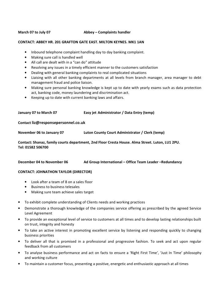 Unique Complaints Manager Resume Adornment - Administrative Officer ...