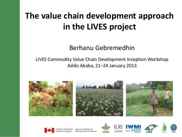 The value chain development approach          in the LIVES project                Berhanu Gebremedhin  LIVES Commodity Val...