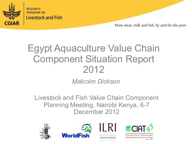 Egypt Aquaculture Value Chain Component Situation Report           2012             Malcolm Dickson Livestock and Fish Val...