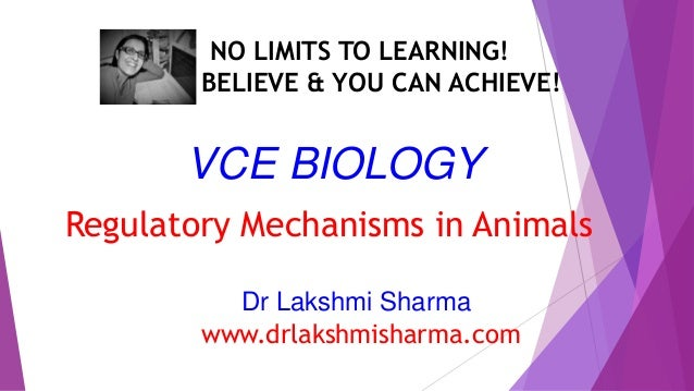 VCE Biology Regulatory Mechanisms in Animals