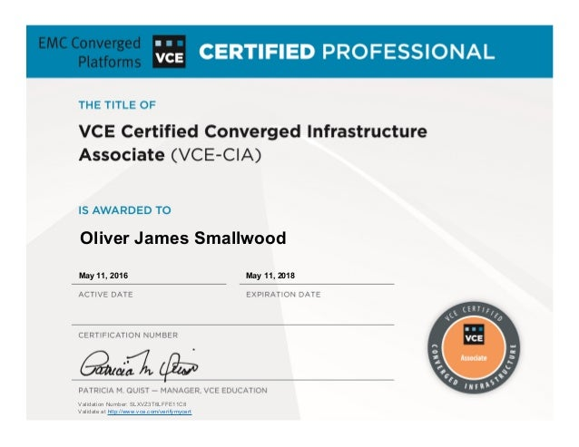 Vce Certified Converged Infrastructure Associate