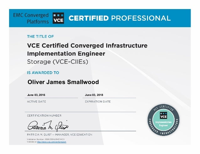 Vce Certified Converged Infrastructure Implementation Engineer