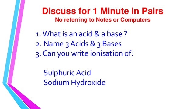 lab 5 acid base chemistry 2 Definitions of acids and bases arrhenius acid: generates [h +] in solution base: generates [oh-] in solution [acid-base chemistry] developed by shodor in cooperation with the department of chemistry, the university of north carolina at chapel hill.