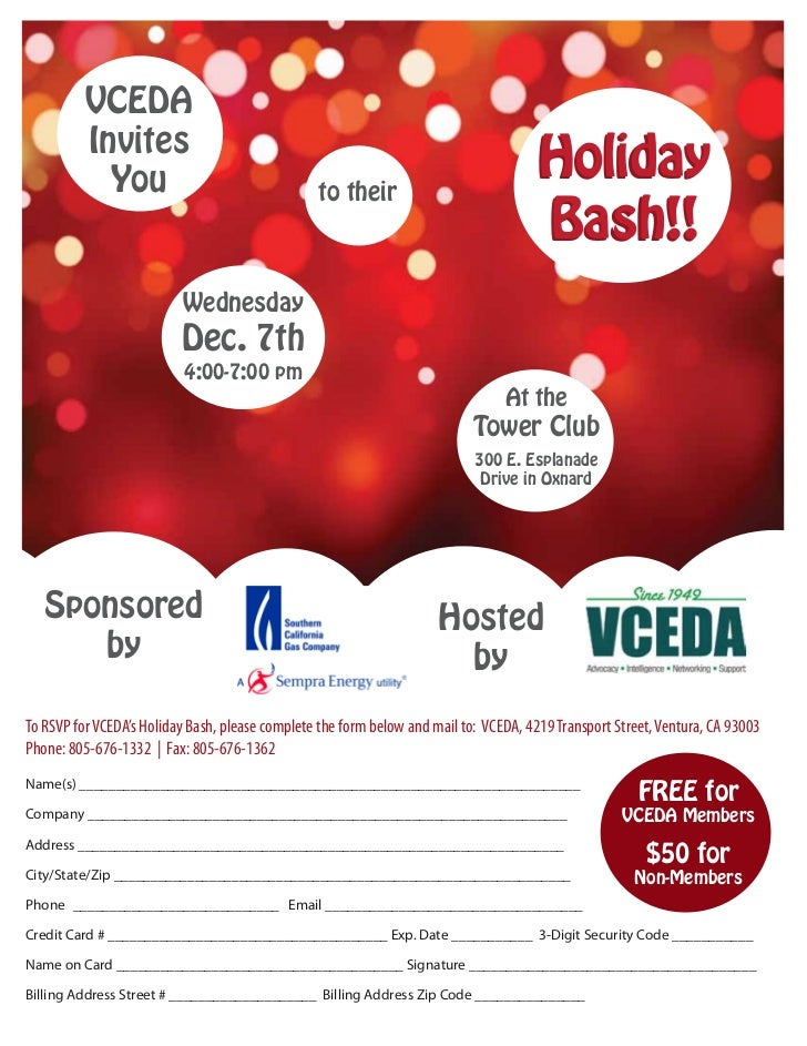 VCEDA          Invites            You                                  to their                                           ...