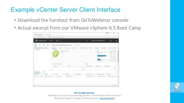 VMware vCenter 6 5 Consoles and Connections