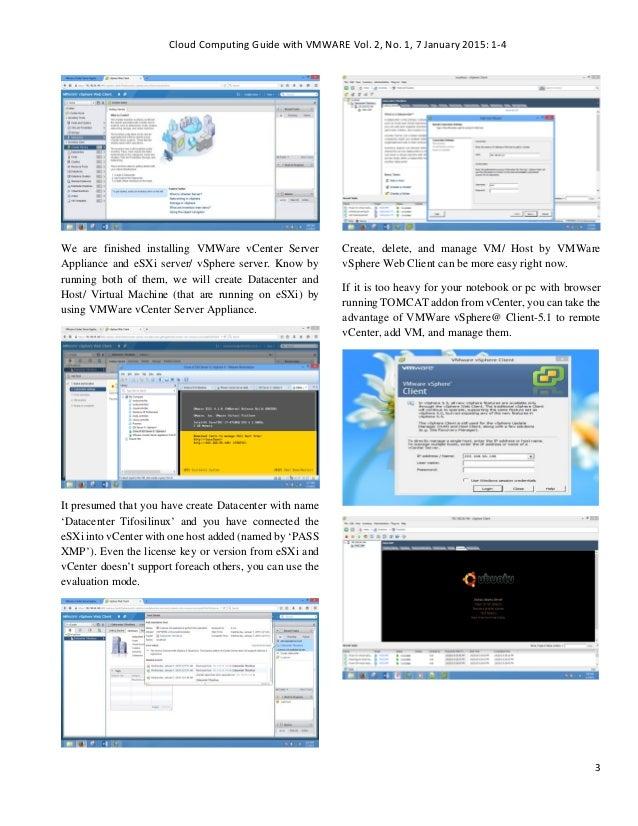 Vcenter Server Appliance - Testing