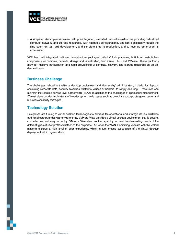 Vce Vdi Reference Architecture Knowledgeworkerenvironments