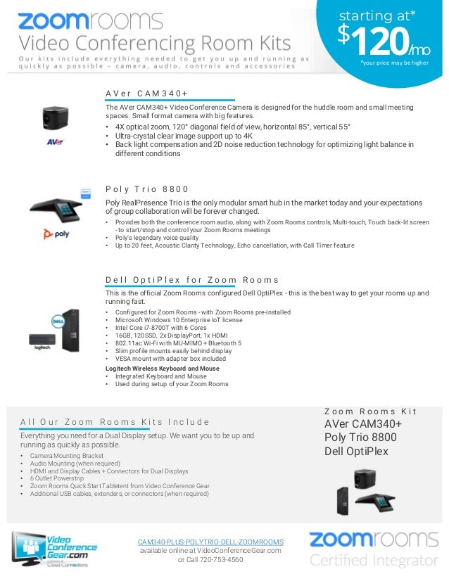 A l l O u r Z o o m R o o m s K i t s I n c l u d e Everything you need for a Dual Display setup. We want you to be up and...