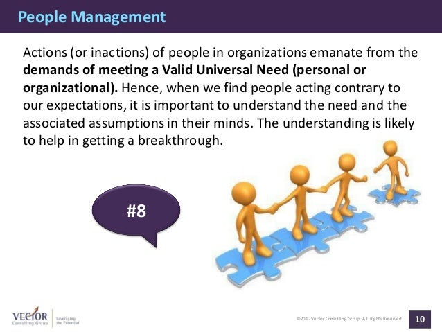People ManagementActions (or inactions) of people in organizations emanate from thedemands of meeting a Valid Universal Ne...