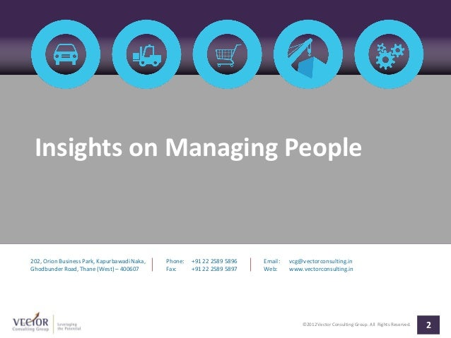Insights on Managing People by VCG Slide 2
