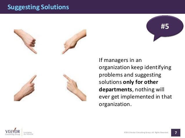 Suggesting Solutions                                                                          #5                       If ...