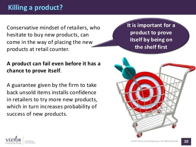 Killing a product?Conservative mindset of retailers, who    It is important for ahesitate to buy new products, can        ...