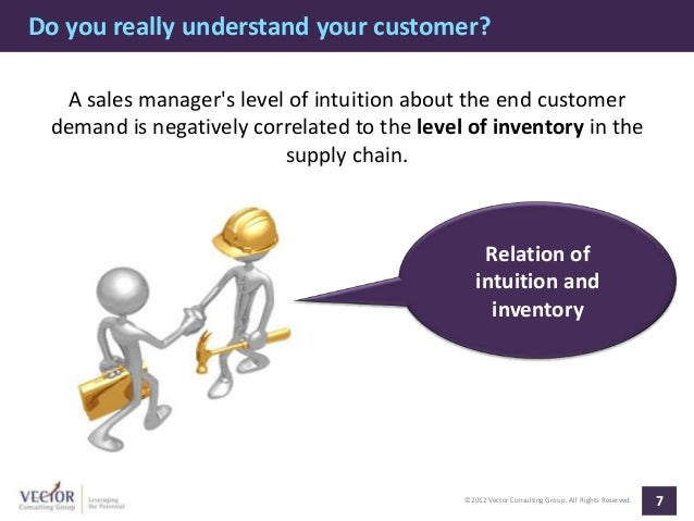Do you really understand your customer?  A sales managers level of intuition about the end customer demand is negatively c...