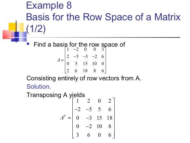 rank of a matrix examples pdf