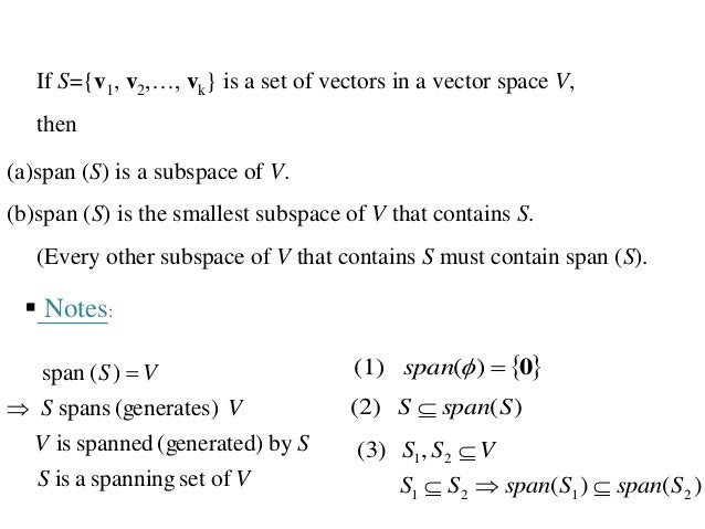 vector spaces subspaces span basis