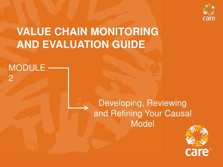 VALUE CHAIN MONITORING AND EVALUATION GUIDEMODULE2             Developing, Reviewing            and Refining Your Causal  ...