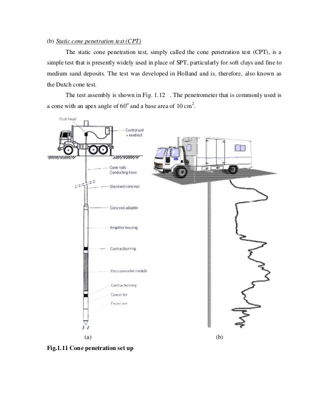 test specifications cone penetration Mechanical