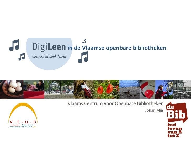 Vlaams Centrum voor Openbare Bibliotheken Johan Mijs in de Vlaamse openbare bibliotheken
