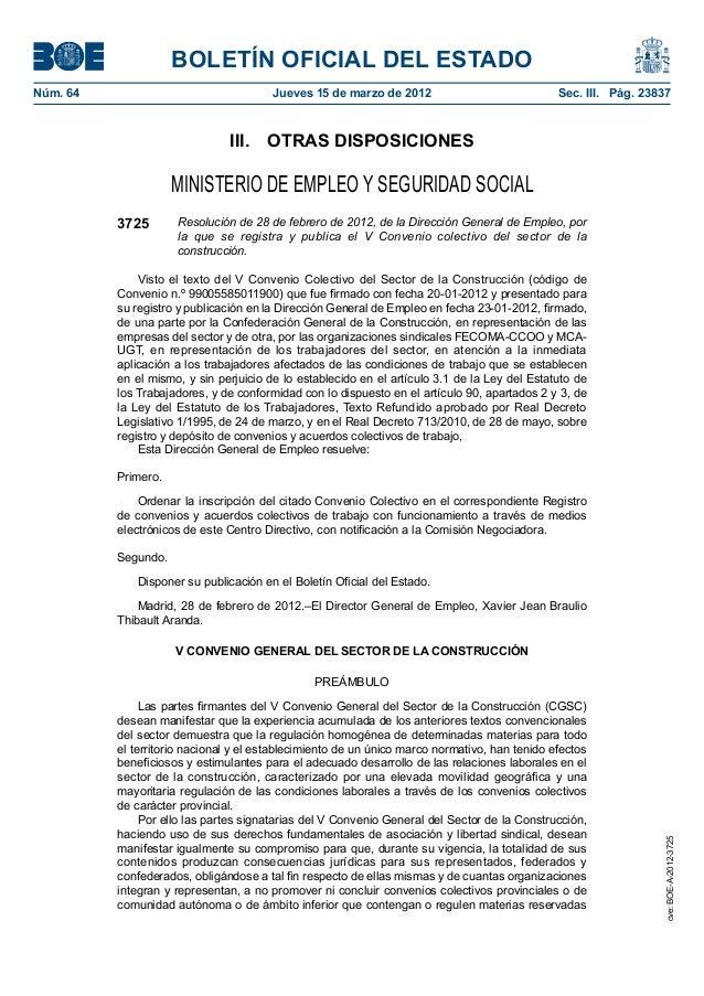 BOLETÍN OFICIAL DEL ESTADONúm. 64                                 Jueves 15 de marzo de 2012                            ...