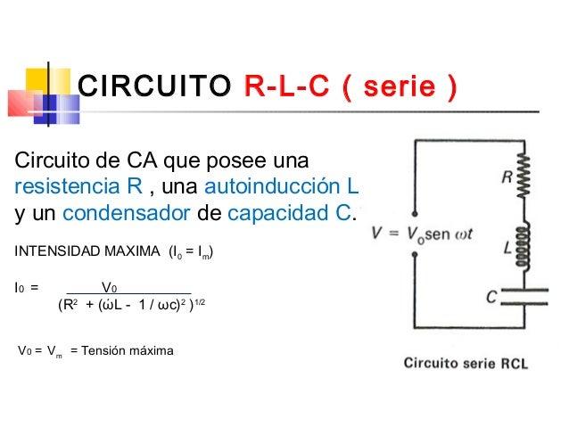 Voltaje Condensador Circuito Rlc Serie : V corriente alterna