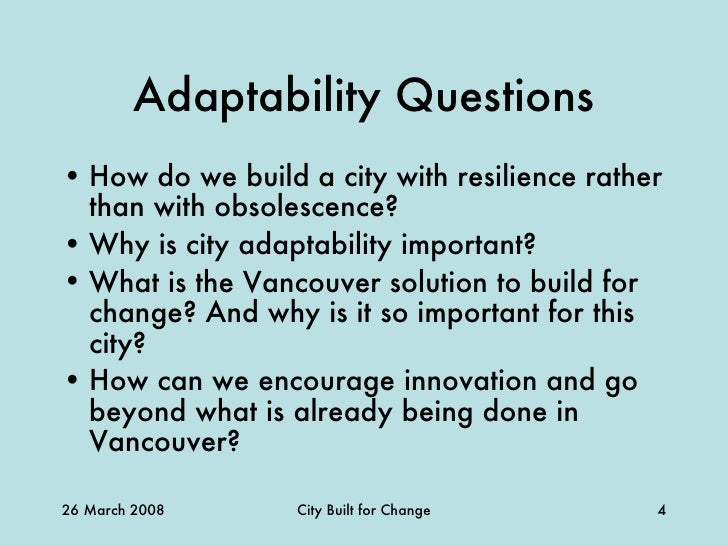 cities built for change adaptable built form