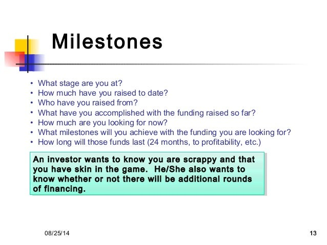 Vc pitch template from 500 startup milestones maxwellsz