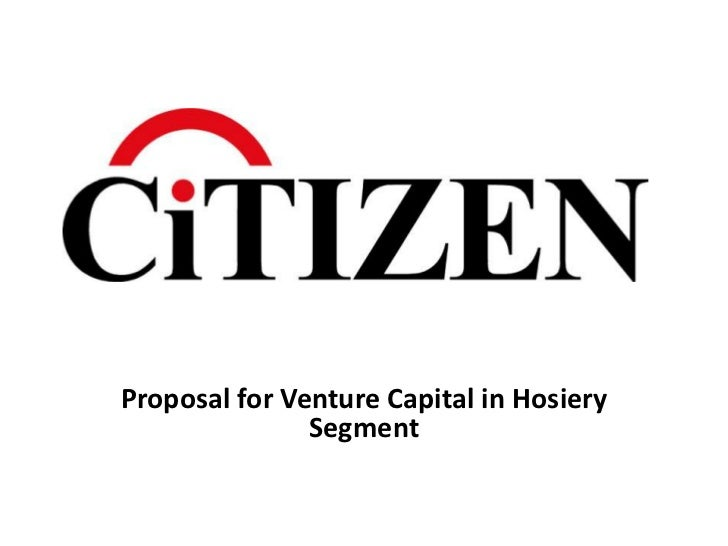 Proposal for Venture Capital in Hosiery               Segment