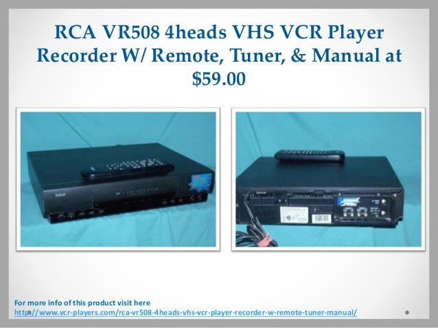 vcr players for sale with affordable prices rh slideshare net RCA TV Remote Control Manuals RCA Universal Remote Manual Codes