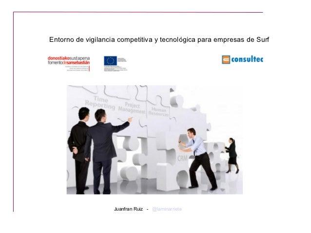 Vigilancia Competitiva y Benchmarking