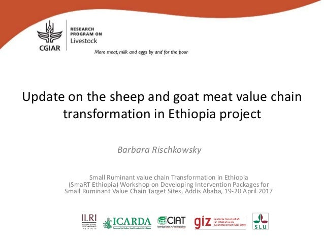 Update on the sheep and goat meat value chain transformation in Ethiopia project Barbara Rischkowsky Small Ruminant value ...