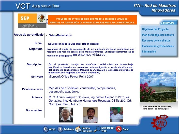 VCT Aula Virtual Tour                                                                                ITN – Red de Maestros...