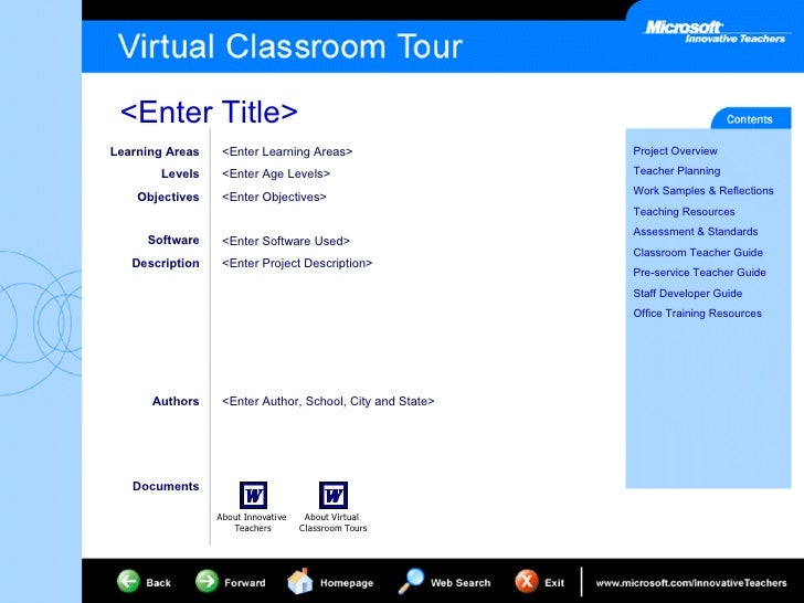 Learning Areas Levels Objectives Software Description <Enter Learning Areas> <Enter Age Levels> <Enter Objectives> <Enter ...