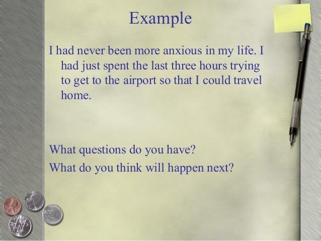 personal narrative questions