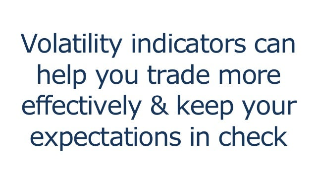 Trading with volatility indicators part 1
