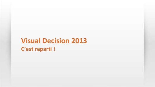 Visual Decision 2013C'est reparti !