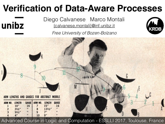 Verification of Data-Aware Processes Diego Calvanese Marco Montali {calvanese,montali}@inf.unibz.it Free University of Boze...