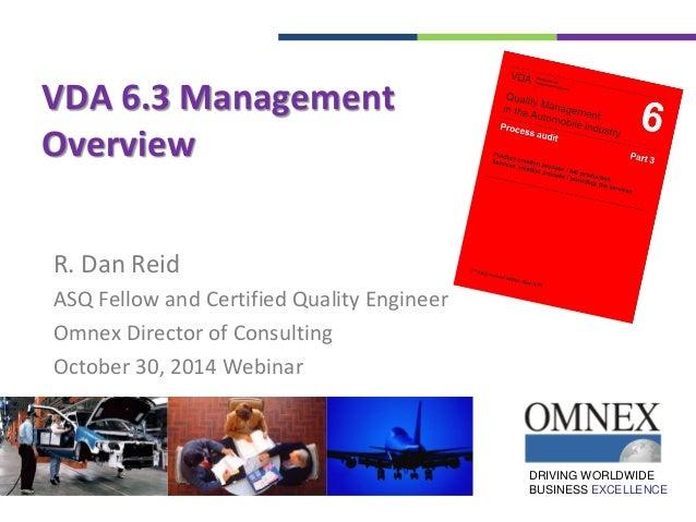 vda process auditing rh slideshare net VDA 6.3 Audit Training VDA 6.3 Examination
