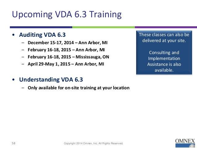vda process auditing rh slideshare net VDA 6.3 Training VDA 6.3 Audit Training