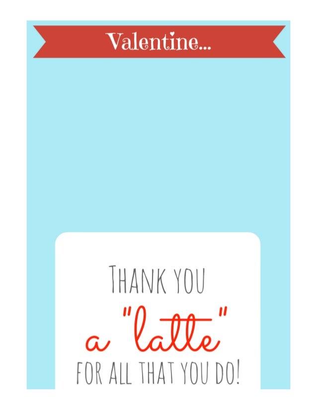 Teacher's Valentine's Day Card - Thanks a LATTE