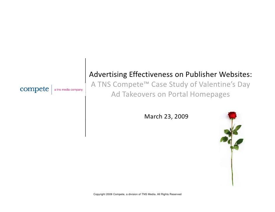 AdvertisingEffectivenessonPublisherWebsites: ATNSCompete™CaseStudyofValentine'sDay       AdTakeoversonPo...