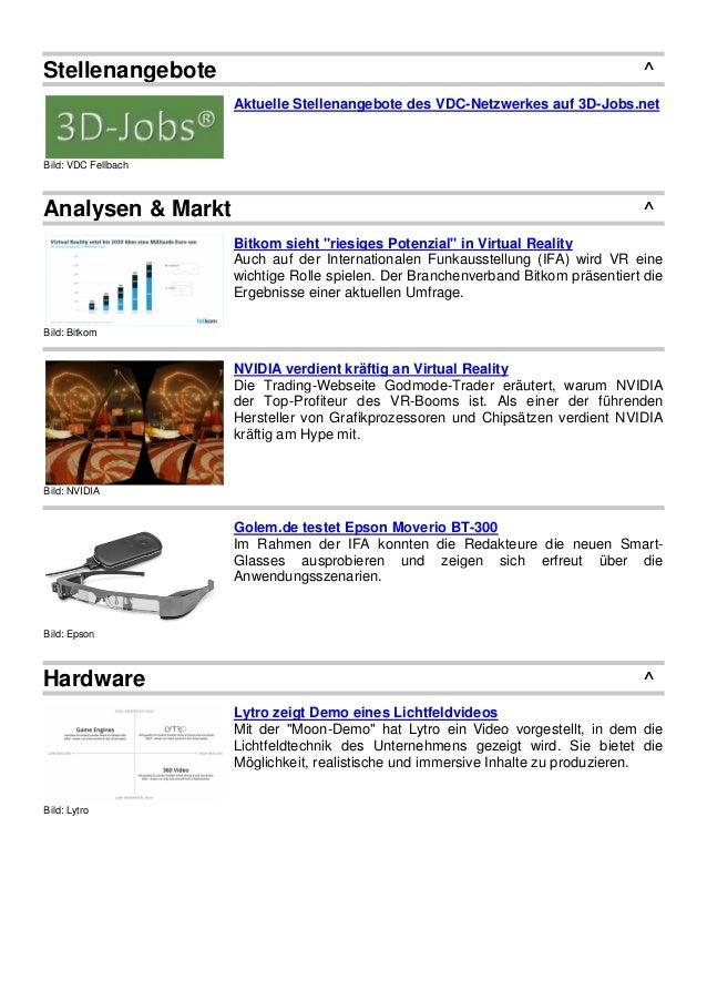 Stellenangebote ^ Bild: VDC Fellbach Aktuelle Stellenangebote des VDC-Netzwerkes auf 3D-Jobs.net Analysen & Markt ^ Bild: ...