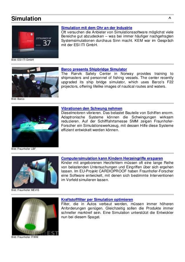 Simulation ^ Bild: ESI ITI GmbH Simulation mit dem Ohr an der Industrie Oft versuchen die Anbieter von Simulationssoftware...