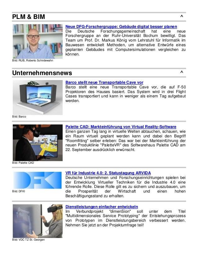 PLM & BIM ^ Bild: RUB, Roberto Schirdewahn Neue DFG-Forschergruppe: Gebäude digital besser planen Die Deutsche Forschungsg...