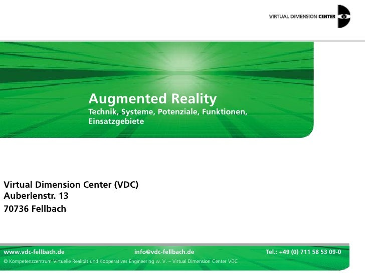 Augmented Reality                                     Technik, Systeme, Potenziale, Funktionen,                           ...