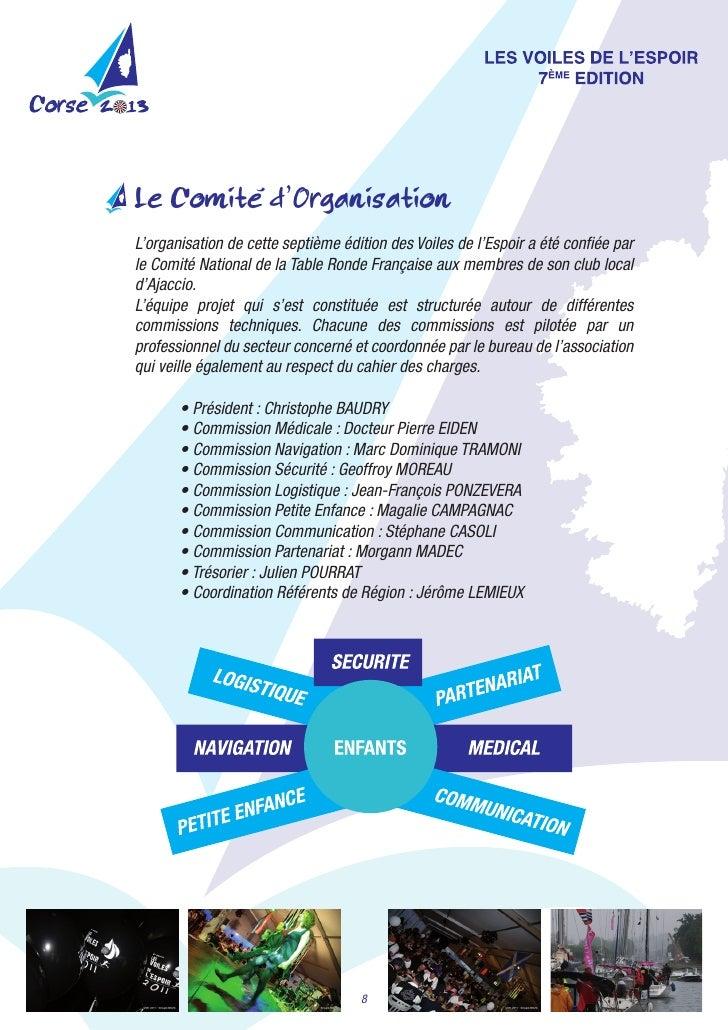 'Le Comite d'OrganisationL'organisationdecetteseptièmeéditiondesVoilesdel'EspoiraétéconfiéeparleComitéNatio...